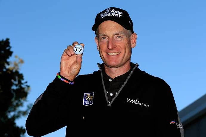 """ I don't remember really even striking the putt or what it felt like when it left the putter or anything.""                       --Jim Furyk on making a 3-and-a-half foot putt on his final hole to shoot 59 in the second round of the BMW Championship."