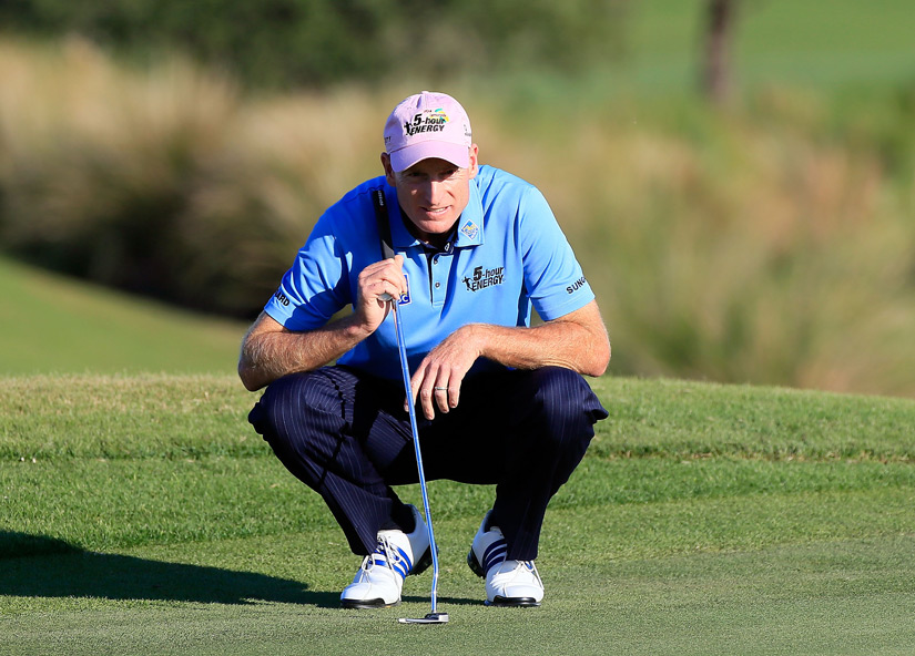 Jim Furyk shot a bogey-free 65 to tie Love for second place.