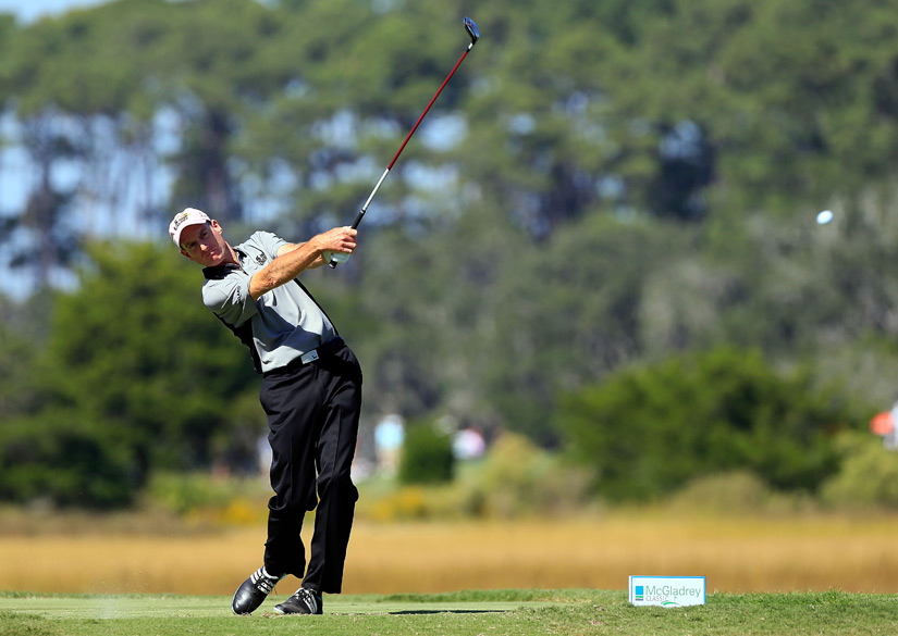 Jim Furyk made four birdies and no bogeys for a 66.