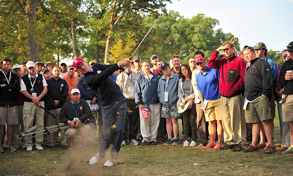 Jim Furyk played poorly, and he and Brandt Snedeker lost to McIlroy and McDowell, 1 down.