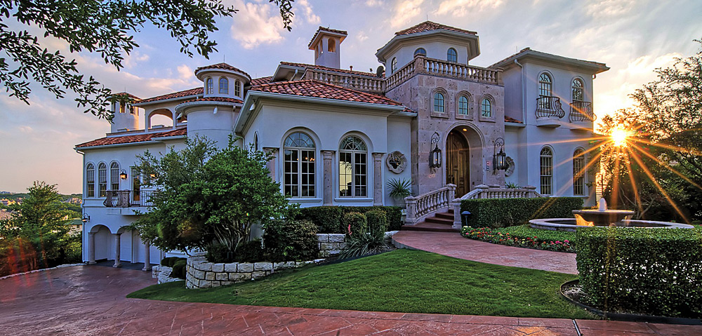 "Nicknamed ""The 19th Hole"" and ""Castle on the Hill,"" this $4.9 million mansion in Fort Worth, Texas, has views of Mira Vista Country and Golf Club, an indoor basketball court and a pool with a waterfall."