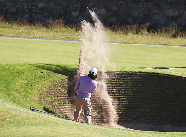 checked out the infamous road hole bunker on the 17th hole.