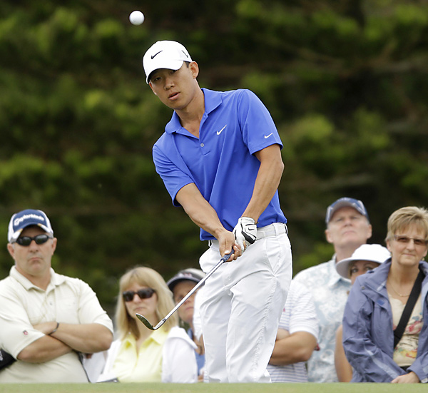 Anthony Kim made six birdies and one double bogey en route to an opening 69.