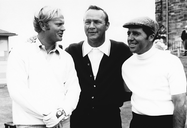 Jack Nicklaus, Arnold Palmer and Gary Player combined to win 34 major championships.