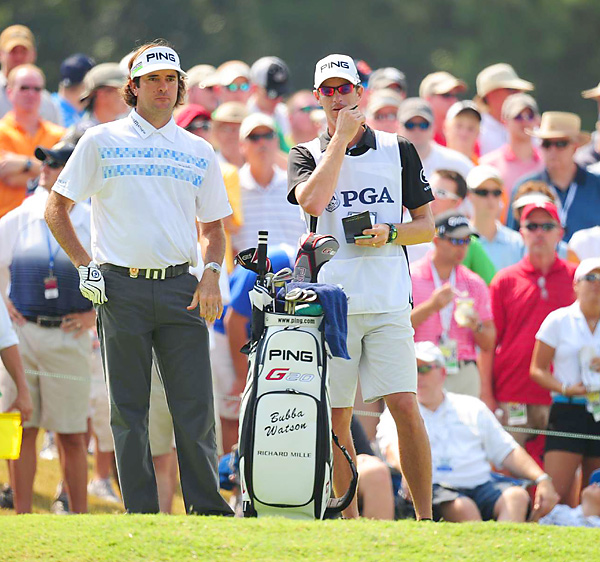 Bubba Watson made five birdies and five bogeys.