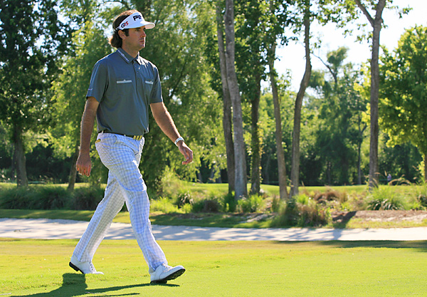 Bubba Watson made six birdies and an eagle while opening with a 66 to tie Matt Jones for the lead.