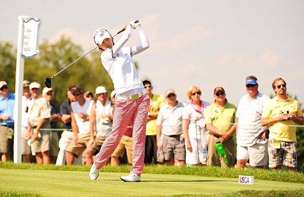 shot a 5-under 66 while attempting to rally from seven shots back. She finished tied with Pettersen for second place.