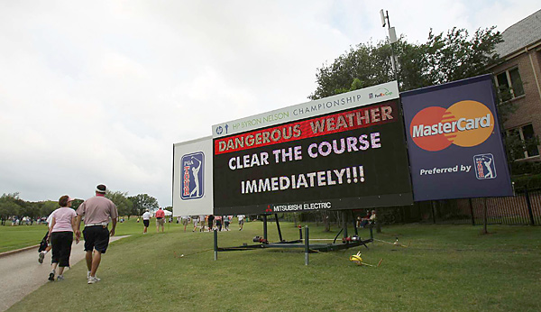 Severe weather delayed the action for more than three hours.