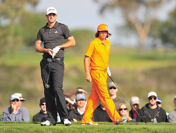 played in the same group, but had very different final rounds. Johnson fired a 66 to tie for third, while Fowler stumbled to a 74 to finish T20.