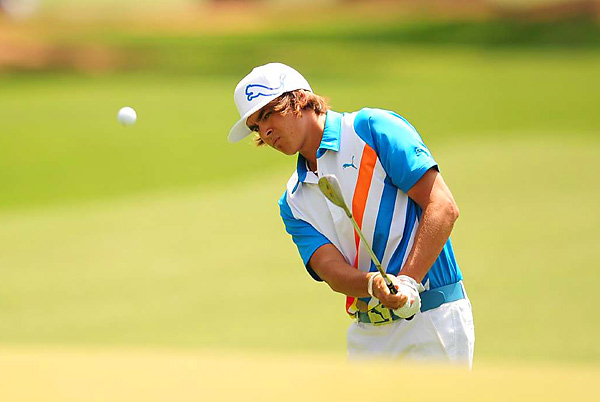 Rickie Fowler made five birdies and two bogeys for a 69.