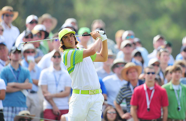 Rickie Fowler made three bogeys and a triple bogey in the last five holes for a 75.