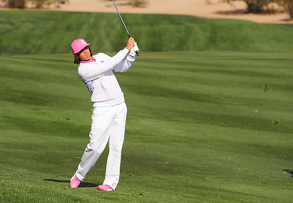 Rickie Fowler started his fourth round with three straight bogeys to fall out of contention.