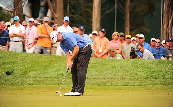 used his small putter well on Friday. Garrigus is tied for third at two under par.