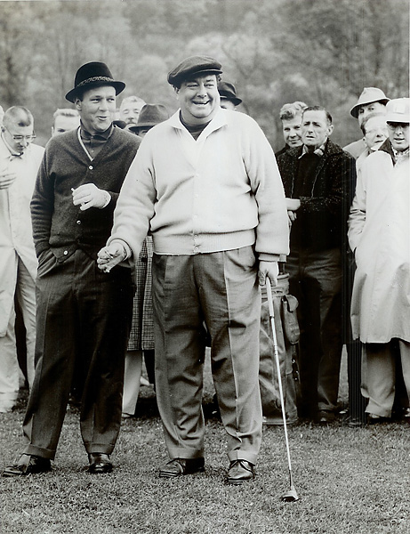 "Jackie Gleason and Arnold Palmer, Shawnee Country Club, October 1960                                              ""I could beat him at pool, golf, whatever,"" Gleason's friend Palmer joked. ""The only thing he could beat me at was drinking."