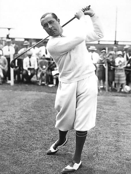 Walter Hagen (shown here in 1920) won 11 major championships in his career, the first of which came at the 1914 U.S. Open.