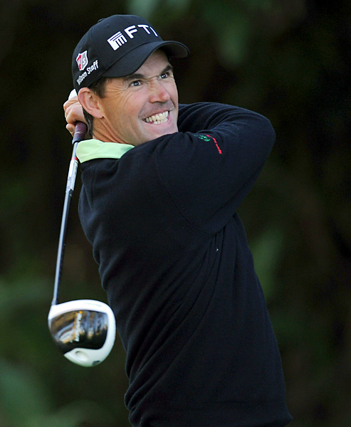 Padraig Harrington picked up an eagle 3 on the first hole en route to firing a three-under 68.