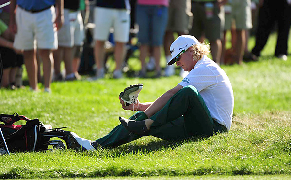 Hoffman finished at 22 under par, which tied the event's record.