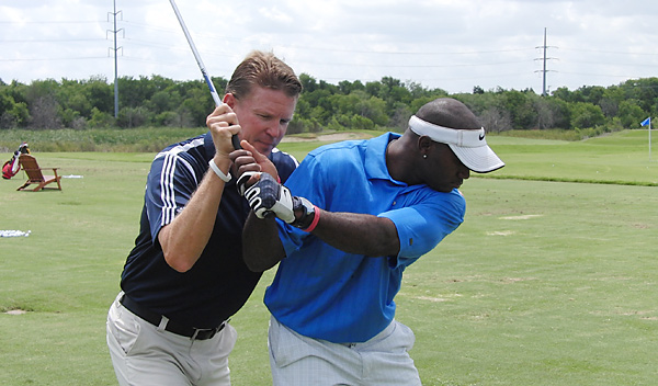 Golf Magazine Top 100 Teacher Shawn Humphries (working with defensive back Terence Newman) is director of instruction at the club.