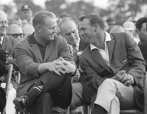 "There was nothing outwardly objectionable about Nicklaus or his behavior, but Arnold Palmer's legions of fans were miffed at the new threat to the King's supremacy. They picked on Jack's weight (""Fat Jack""), and the comparatively uninspiring way the new guy from Ohio played the game. Like many players before and after him, Nicklaus had to work his way into the public's hearts. Jack Nicklaus, in the '60s                                               There was nothing outwardly objectionable about Nicklaus or his behavior, but Arnold Palmer's legions of fans were miffed at the new threat to the King's supremacy. They picked on Jack's weight (""Fat Jack""), and the comparatively uninspiring way the new guy from Ohio played the game. Like many players before and after him, Nicklaus had to work his way into the public's hearts."