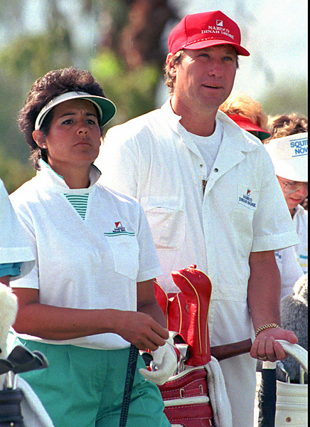 Technically, Ray Knight would be a HAB (Husbands and Boyfriends), but we include him here because the former Major League Baseball player occasionally caddied for his Hall of Fame wife, Nancy Lopez.