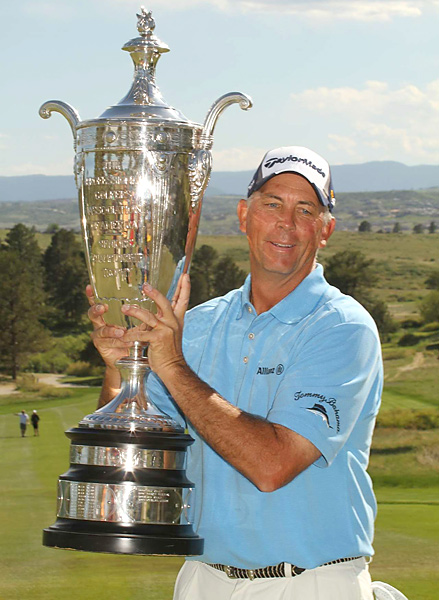 Lehman's first individual Champions Tour triumph — he teamed with Bernhard Langer to win the 2009 Liberty Mutual Legends of Golf — was worth $360,000.
