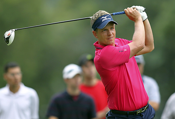 Luke Donald shot a two-under 68.