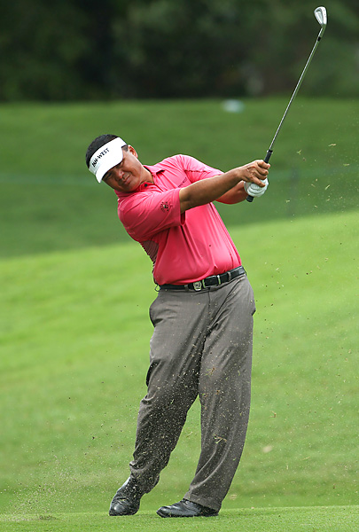 of Singapore shot a 65 to pull into a five-way tie for third place, four shots behind Crane.