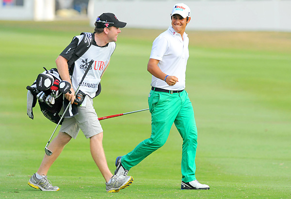 shot an 8-under 62 on Sunday and finished at 21 under, one shot behind Poulter.