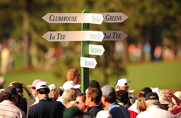 Augusta National patrons face decisions almost immediately upon passing through the gates.