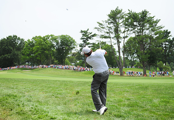 Phil Mickelson shot a 71 to finish seven over for the event.