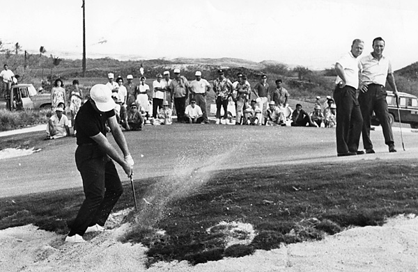 Player participated in many rounds under the watchful eyes of Jack Nicklaus and Arnold Palmer.