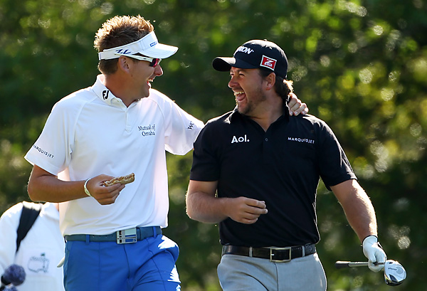 Ian Poulter and Graeme McDowell are both seeking their first green jackets.