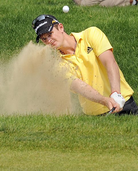entered Sunday with a three-shot lead, but collapsed on the back nine while shooting a final-round 75.