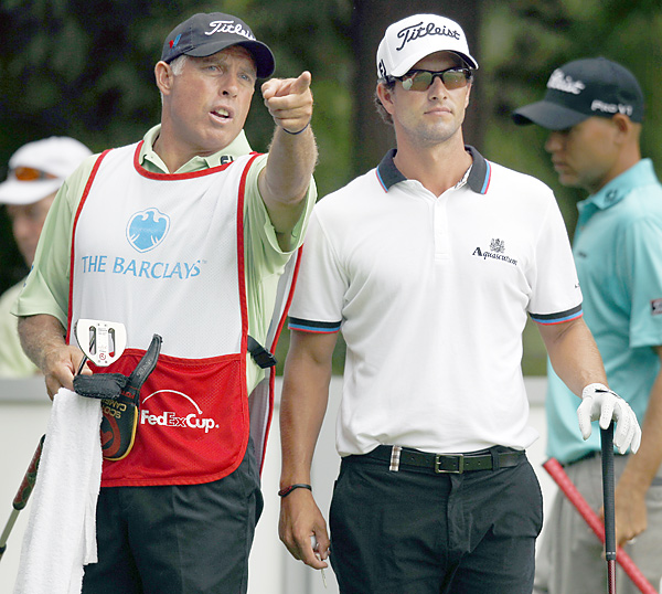 Steve Williams and Adam Scott teamed up and got off to a fast start. Scott eagled 16 and birdied 18 to finish with a 66.