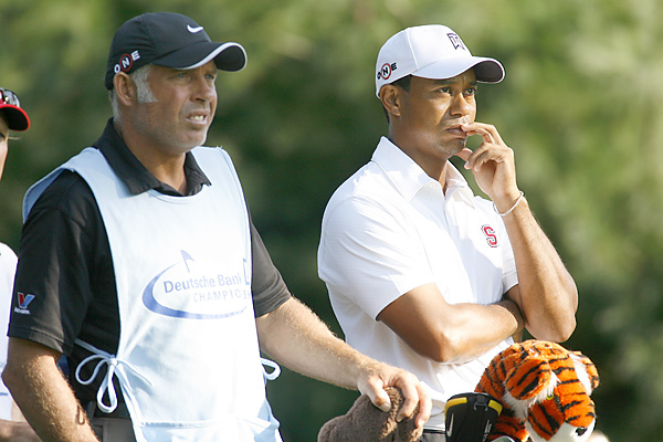"March 3 -- Woods' caddie, Steve Williams, says in a New Zealand television interview that he was angry to learn of Woods' extramarital affairs, but that he remains at Woods' side. ""Tiger's one of my closest friends and he needs my support right now and I'd never think of walking away,"" Williams says. Jack Nicklaus, playing in the Honda Classic pro-am, says he would be ""very surprised"" if Woods did not play in the Masters, and compete somewhere before Augusta National."