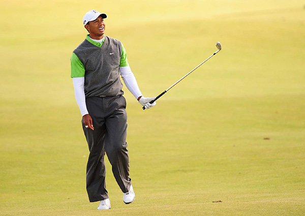 Woods played his second round in the afternoon, when scoring was five shots higher than in the morning rounds.
