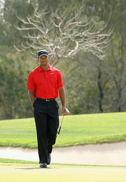 Woods began the final round one shot behind the leaders, but finished seven shots back.
