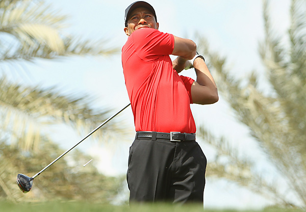 Woods made a triple-bogey 7 on the 18th to close out his round.
