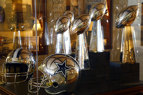 The display cases at Cowboys Golf Club ooze team spirit.
