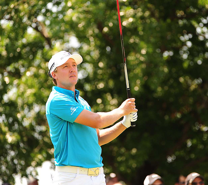 Rookie Jonas Blixt shot 66 and also tied for third.