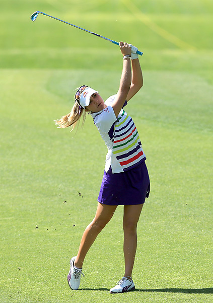 Lexi Thompson made three birdies and three bogeys while opening with an even-par 72.