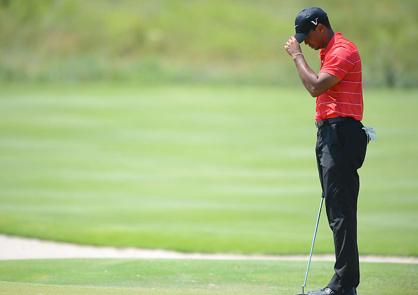 Tiger Woods shot an even-par 72 in the final round. He failed to break par on the weekend at a major this year.
