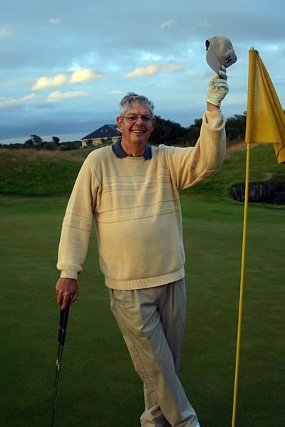 "My brother Tom's last round was at Carne in July of 2005. I took this photo of him a few days earlier at The European Club in County Wicklow. He joked that he was playing pretty good ""for a guy with three kinds of cancer, only one kidney and a frozen shoulder."" Two months earlier, he played his final Stateside round at Tiffany Greens Golf Club, a former Champions Tour venue in Kansas City, Mo. Tom shot a par-72 that day, but he was quick to point out that he was playing from the white tees."