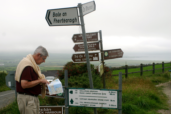 """Are you sure this is the road to Belmullet?"" Here's my brother Tom on the Dingle Peninsula in the summer of 2005. A former Missouri Amateur champion and a dominating player in the American heartland in the generation before Tom Watson, my brother played one season on the PGA tour, 1960-61. Asked why he quit, he'd point out that his best finish, a 13th at the Miami Sunshine Open, paid only $720. ""Palmer and Snead were making good money,"" he said. ""The rest of us were rabbits, driving hundreds of miles between Monday qualifiers."""