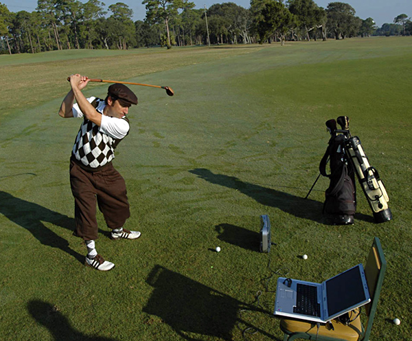 "YE OLDE TEE SHOT                                          How far--and long and high--we've come                     Tee shots may be flying higher and longer than they did 20 years ago, but what happens when you look back 100 years?                                          How we did it                     We asked a 6 handicapper to hit several balls with his own gear--a 9-degree, 460 cc titanium driver and a three-piece ball (a Titleist Pro V1)--and tracked his results on an Accusport Vector Pro launch monitor. Next he hit a hickory-shafted driver (the kind golfers used 100 years ago) with the ProV1, then his 460 cc driver with a gutta-percha ball (a one-piece ball filled with dried gum, like the kind golfers played a century ago) and finally the hickory-shafted driver with the ""gutty.""                                          What we learned                     Most telling was how both the modern and hickory drivers performed with balls from another era. The 460 cc driver held up well, carrying the gutty more than 200 yards, but the hickory-shafted driver struggled, launching the three-piece ball less than 180 yards. The bottom line: be grateful for what the multilayered ball has done for your game, but bow down and worship your melon-headed titanium driver."