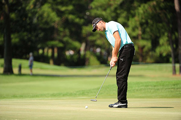 Geoff Ogilvy, who has won twice on Tour this season, shot a two-under 70.