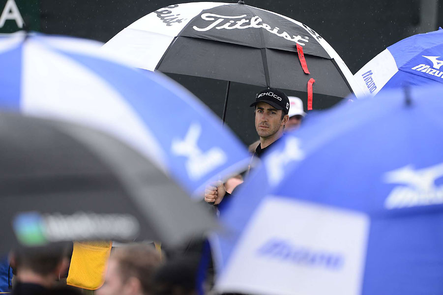 The weather was fair for most of this open, but Geoff Olgivy endured a little rain on Thursday.