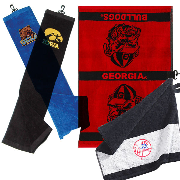 Team Effort Collegiate Towel                     $14.99, golfsmith.com                     Show your pride in a bold way with these golf towels.Complete Holiday Gift Guide