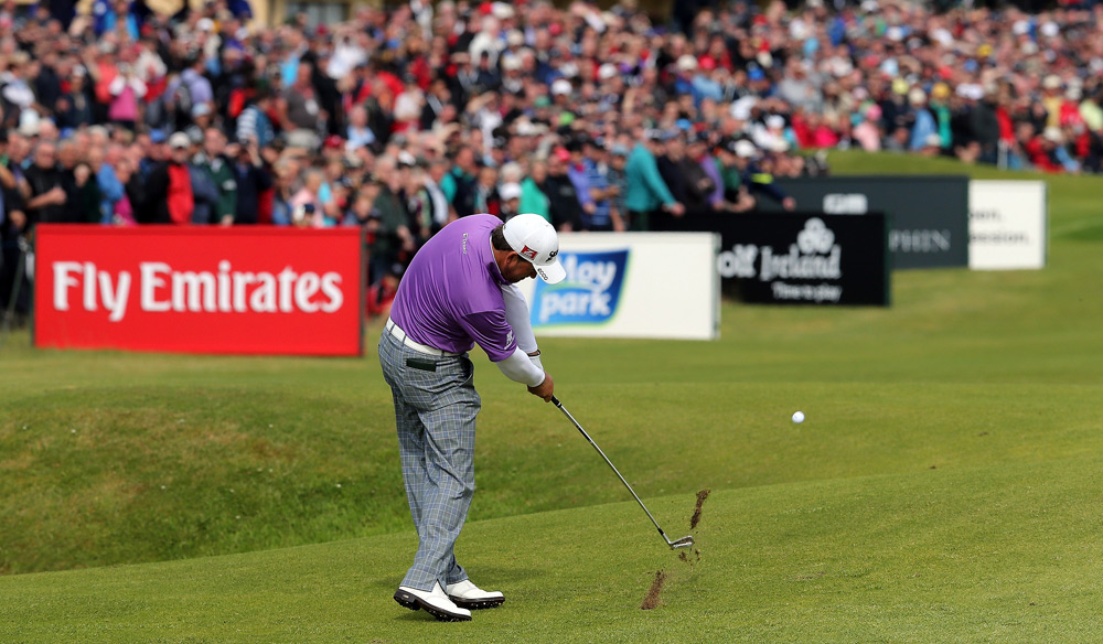 Graeme McDowell made six birdies and two bogeys for a 68.