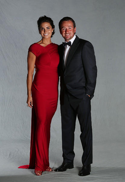 Graeme McDowell and his girlfriend, Kristin Stape.